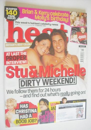 <!--2004-09-11-->Heat magazine - Michelle Bass and Stuart Wilson cover (11-