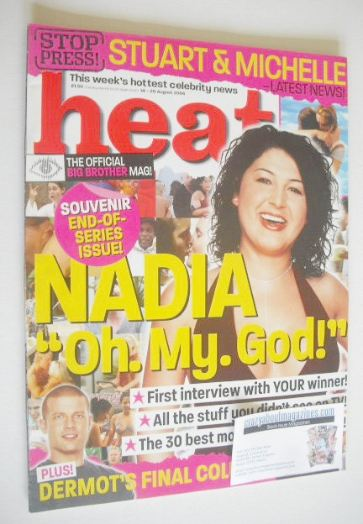 <!--2004-08-14-->Heat magazine - Nadia Almada cover (14-20 August 2004 - Is