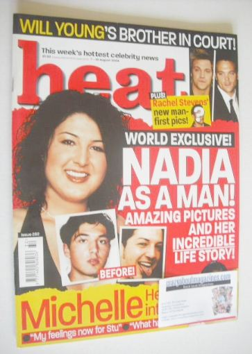 <!--2004-08-07-->Heat magazine - Nadia Almada cover (7-13 August 2004 - Iss
