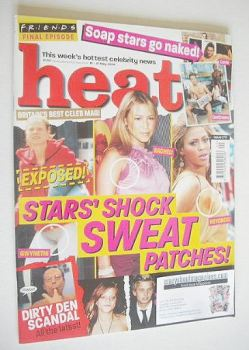 Heat magazine - Stars' Shock Sweat Patches! cover (15-21 May 2004 - Issue 270)