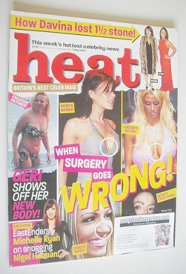 <!--2004-05-01-->Heat magazine - When Surgery Goes Wrong! cover (1-7 May 20