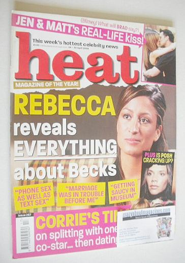 <!--2004-04-24-->Heat magazine - Rebecca Loos cover (24-30 April 2004 - Iss