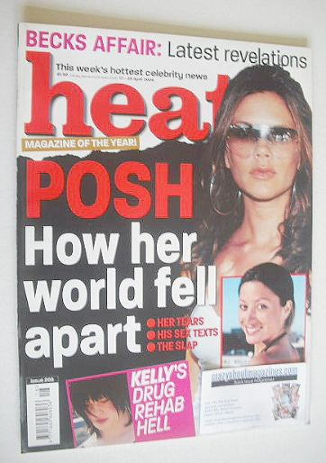 <!--2004-04-17-->Heat magazine - Victoria Beckham cover (17-23 April 2004 -