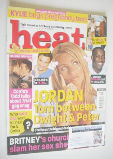 <!--2004-04-10-->Heat magazine - Jordan cover (10-16 April 2004 - Issue 265