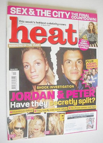 <!--2004-03-06-->Heat magazine - Jordan and Peter Andre cover (6-12 March 2