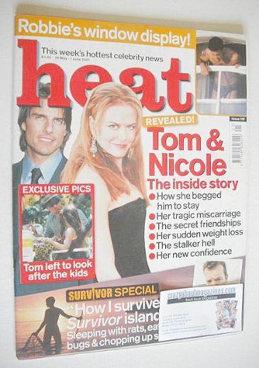 <!--2001-05-26-->Heat magazine - Tom Cruise and Nicole Kidman cover (26 May