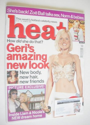 <!--2001-03-10-->Heat magazine - Geri Halliwell cover (10-16 March 2001 - I