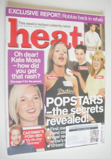 <!--2001-01-27-->Heat magazine - Popstars cover (27 January - 2 February 20