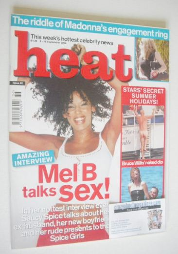 <!--2000-09-09-->Heat magazine - Mel B cover (9-15 September 2000 - Issue 8