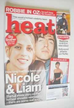 Heat magazine - Nicole Appleton and Liam Gallagher cover (5-11 August 2000 - Issue 77)