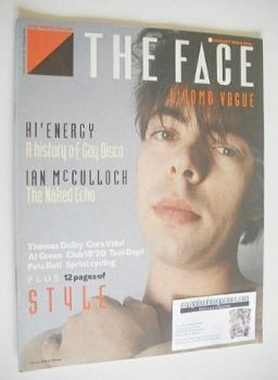 The Face magazine - Ian McCulloch cover (August 1984 - Issue 52)