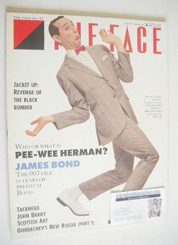 <!--1987-07-->The Face magazine - Pee-Wee Herman cover (July 1987 - Issue 8