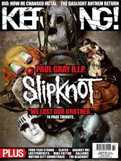 <!--2010-06-05-->Kerrang magazine - Slipknot cover (5 June 2010 - Issue 131