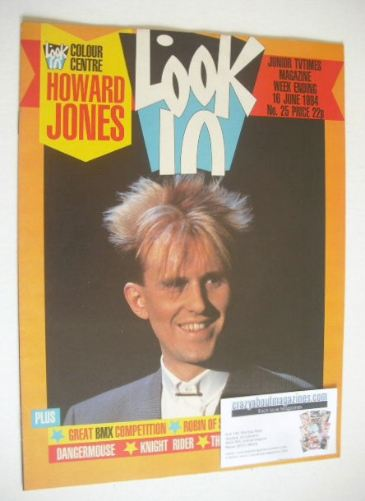 <!--1984-06-16-->Look In magazine - Howard Jones cover (16 June 1984)