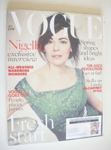 <!--2014-04-->British Vogue magazine - April 2014 - Nigella Lawson cover