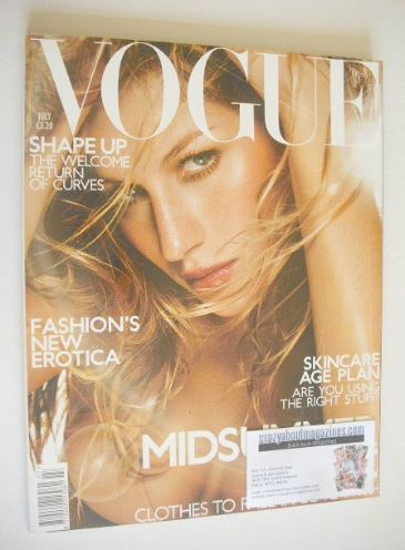 <!--2001-07-->British Vogue magazine - July 2001 - Gisele Bundchen cover