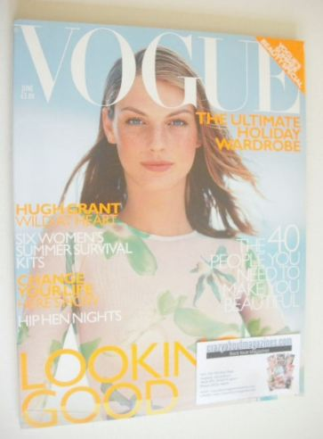 <!--1999-06-->British Vogue magazine - June 1999 - Angela Lindvall cover