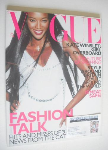 <!--1998-01-->British Vogue magazine - January 1998 - Naomi Campbell cover