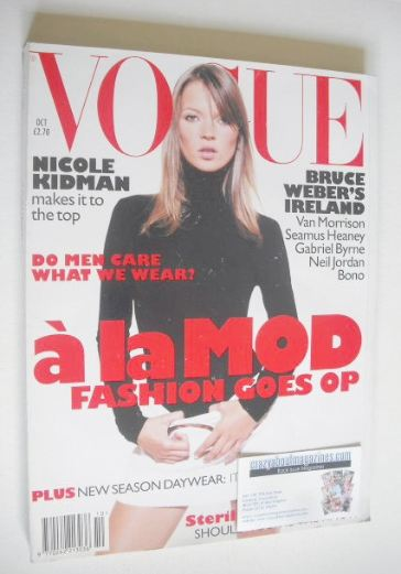 <!--1995-10-->British Vogue magazine - October 1995 - Kate Moss cover