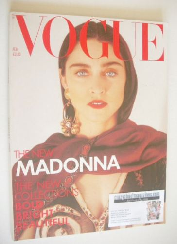 <!--1989-02-->British Vogue magazine - February 1989 - Madonna cover