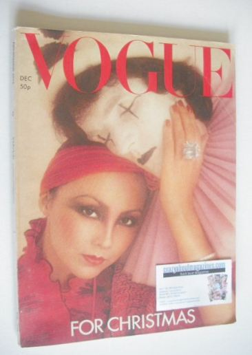 <!--1975-12-->British Vogue magazine - December 1975 - Marie Helvin cover
