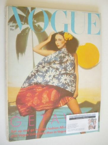 <!--1974-05-->British Vogue magazine - May 1974 - Marie Helvin cover