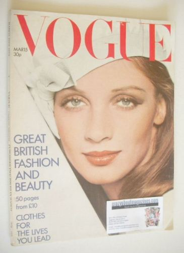 <!--1973-03-15-->British Vogue magazine - 15 March 1973