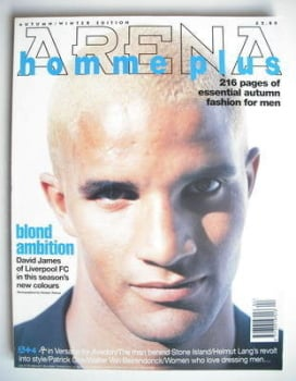 Arena Homme Plus magazine (Autumn/Winter 1995 - Issue 4 - David James cover)