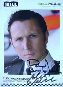 Alex Walkinshaw autograph (The Bill actor)