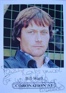 Bill Ward autograph (ex Coronation Street actor)