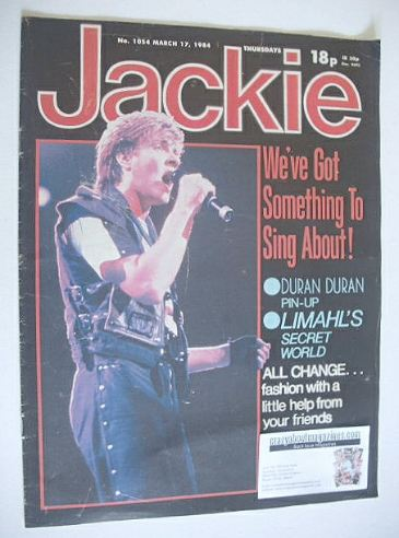 <!--1984-03-17-->Jackie magazine - 17 March 1984 (Issue 1054 - Simon Le Bon