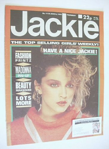 <!--1985-06-08-->Jackie magazine - 8 June 1985 (Issue 1118 - Madonna cover)