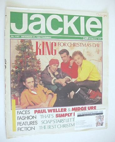 <!--1985-12-28-->Jackie magazine - 28 December 1985 (Issue 1147)