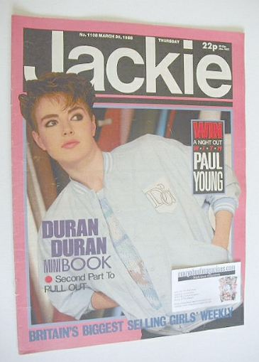 <!--1985-03-30-->Jackie magazine - 30 March 1985 (Issue 1108)