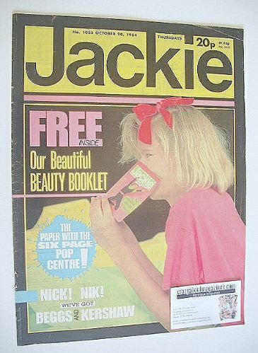 <!--1984-10-20-->Jackie magazine - 20 October 1984 (Issue 1085)