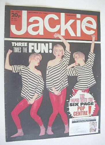<!--1984-09-22-->Jackie magazine - 22 September 1984 (Issue 1081)