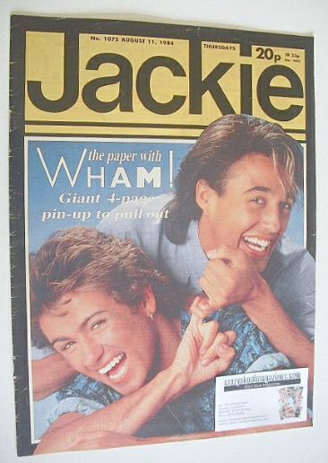 <!--1984-08-11-->Jackie magazine - 11 August 1984 (Issue 1075 - Wham! cover