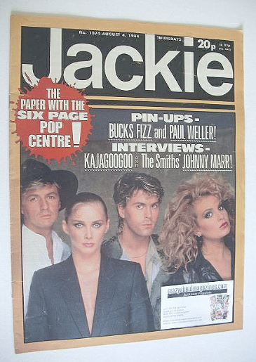 <!--1984-08-04-->Jackie magazine - 4 August 1984 (Issue 1074 - Bucks Fizz c