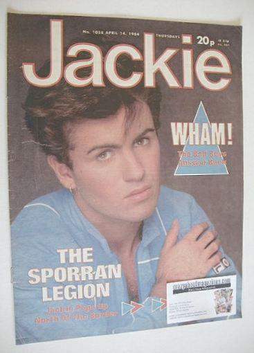 <!--1984-04-14-->Jackie magazine - 14 April 1984 (Issue 1058 - George Micha