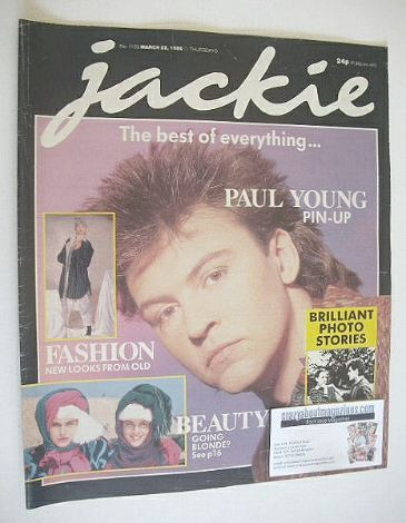 <!--1986-03-22-->Jackie magazine - 22 March 1986 (Issue 1159 - Paul Young c