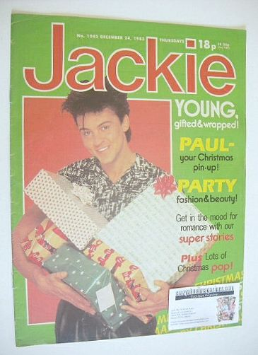 <!--1983-12-24-->Jackie magazine - 24 December 1983 (Issue 1042 - Paul Youn
