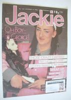 <!--1983-12-17-->Jackie magazine - 17 December 1983 (Issue 1041 - Boy George cover)