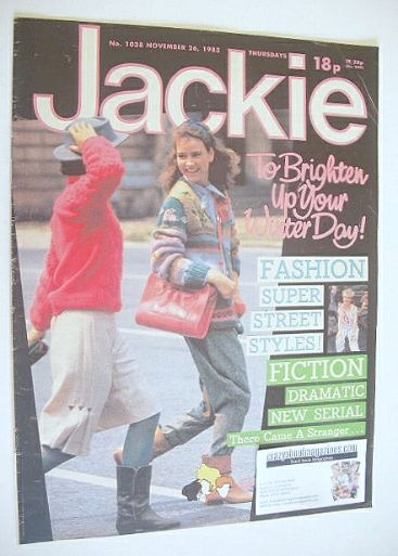 <!--1983-11-26-->Jackie magazine - 26 November 1983 (Issue 1038)