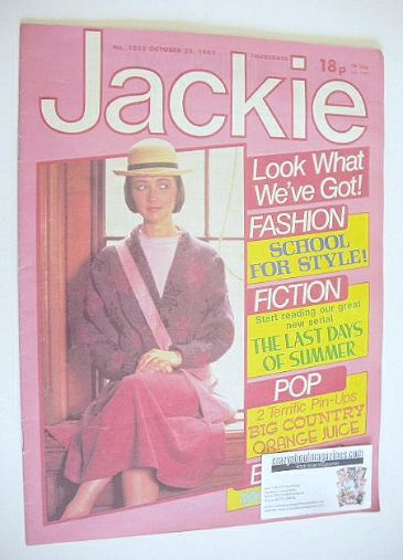<!--1983-10-22-->Jackie magazine - 22 October 1983 (Issue 1033)