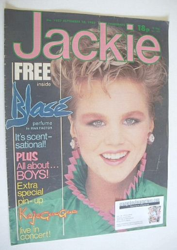 <!--1983-09-10-->Jackie magazine - 10 September 1983 (Issue 1027)