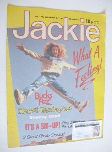 <!--1983-09-03-->Jackie magazine - 3 September 1983 (Issue 1026)