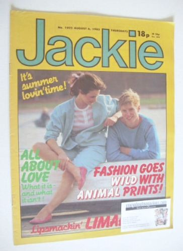 <!--1983-08-06-->Jackie magazine - 6 August 1983 (Issue 1022)