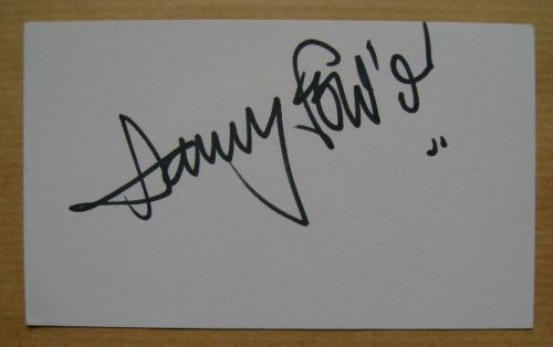 Harry Fowler autograph (hand-signed white card)