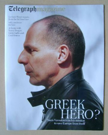 <!--2016-04-02-->Telegraph magazine - Yanis Varoufakis cover (2 April 2016)