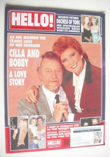 <!--1999-11-09-->Hello! magazine - Cilla Black and Bobby Willis (9 November